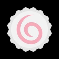 Fish Cake With Swirl Design microsoft emoji