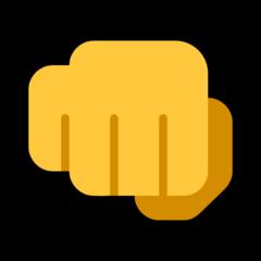 Fisted Hand Sign microsoft emoji