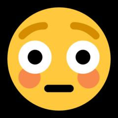 Flushed Face microsoft emoji