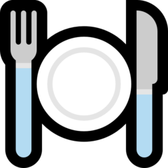 Fork And Knife With Plate microsoft emoji