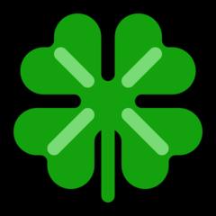 Four Leaf Clover microsoft emoji