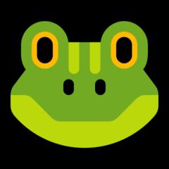 Frog Face microsoft emoji