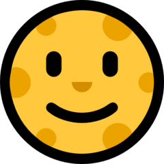 Full Moon With Face microsoft emoji