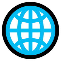 Globe With Meridians microsoft emoji