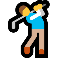 Golfer microsoft emoji