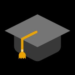 Graduation Cap microsoft emoji