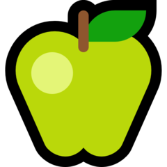 Green Apple microsoft emoji