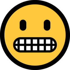 Grimacing Face microsoft emoji