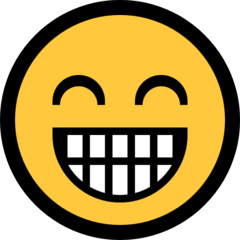 Grinning Face With Smiling Eyes microsoft emoji