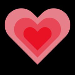 Growing Heart microsoft emoji