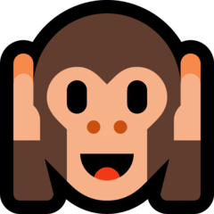 Hear-no-evil Monkey microsoft emoji