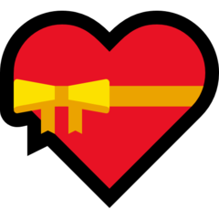 Heart With Ribbon microsoft emoji
