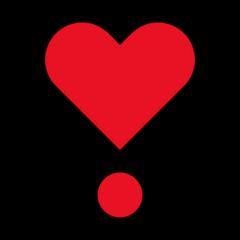 Heavy Heart Exclamation Mark Ornament microsoft emoji