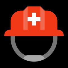 Helmet With White Cross microsoft emoji