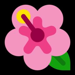 Hibiscus microsoft emoji