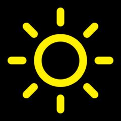 High Brightness Symbol microsoft emoji