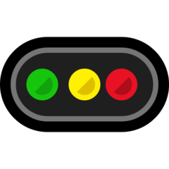 Horizontal Traffic Light microsoft emoji
