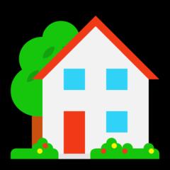 House With Garden microsoft emoji
