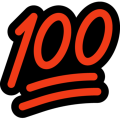 Hundred Points Symbol microsoft emoji
