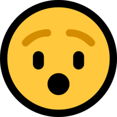 Hushed Face microsoft emoji