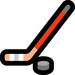 Ice Hockey Stick And Puck microsoft emoji