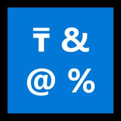 Input Symbol For Symbols microsoft emoji