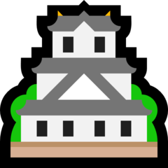 Japanese Castle microsoft emoji