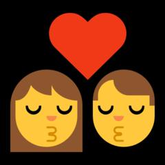 Kiss microsoft emoji