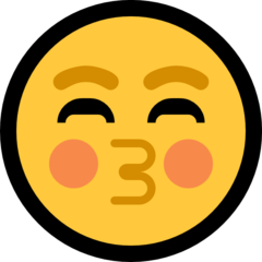 Kissing Face With Closed Eyes microsoft emoji