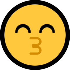 Kissing Face With Smiling Eyes microsoft emoji