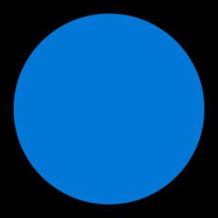 Large Blue Circle microsoft emoji