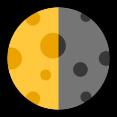 Last Quarter Moon Symbol microsoft emoji