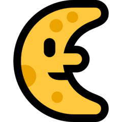 Last Quarter Moon With Face microsoft emoji