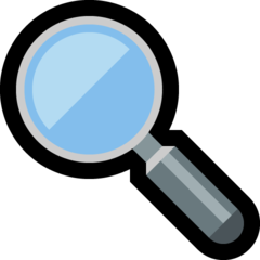 Left-pointing Magnifying Glass microsoft emoji