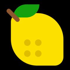 Lemon microsoft emoji