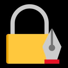 Lock With Ink Pen microsoft emoji