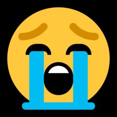 Loudly Crying Face microsoft emoji