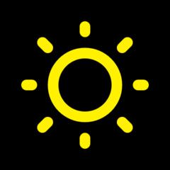 Low Brightness Symbol microsoft emoji