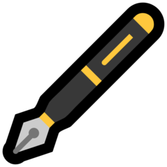 Lower Left Fountain Pen microsoft emoji