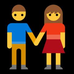 Man And Woman Holding Hands microsoft emoji