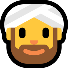 Man With Turban microsoft emoji