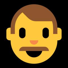 Man microsoft emoji