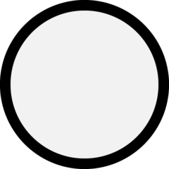 Medium White Circle microsoft emoji