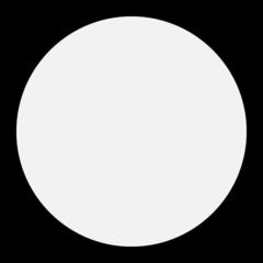 Medium White Circle microsoft emoji