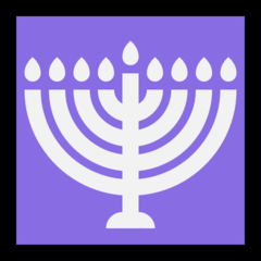 Menorah With Nine Branches microsoft emoji