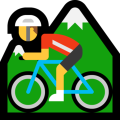 Mountain Bicyclist microsoft emoji