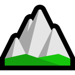 Mountain microsoft emoji