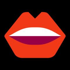 Mouth microsoft emoji