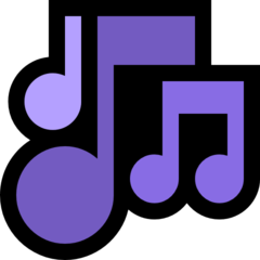 Multiple Musical Notes microsoft emoji