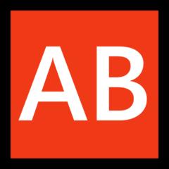 Negative Squared Ab microsoft emoji